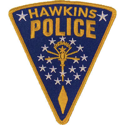 HAWKINS POLICE DEPARTMENT SHOULDER PATCH: Stranger Things (2016)