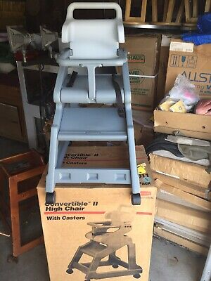 Rubbermaid Convertible High Chair With Casters