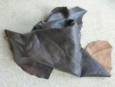Antique Dk.Brown Sheep Nappa Leather Hide approx. 7 sq.ft. & 0.5/7 mm.thick.