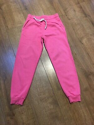 Girls Pink Joggers Age 9-10 Years