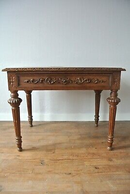 19th Century Antique French Oak Writing Table Desk