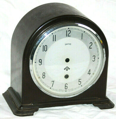 Vintage SMITHS Bakelite WAR DEPT Clock - NO Mechanism - Crows Foot