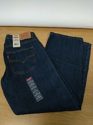 Levi's 550 relaxed straight-leg jeans boys 8-20 size 10 husky Blue UK 30W denim