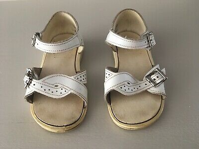 Vintage Childs White Leather Clark's Sandals