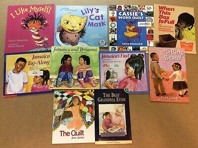 African American Girl Lot of 10 Children's Picture Books Black History