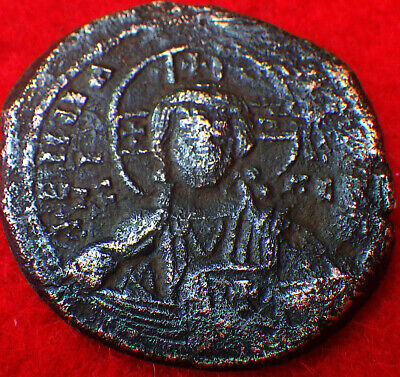 "JUSTINIAN (540 AD)  GREAT EMPEROR    Stopped by ""BLACK DEATH""        ROMAN COINS"