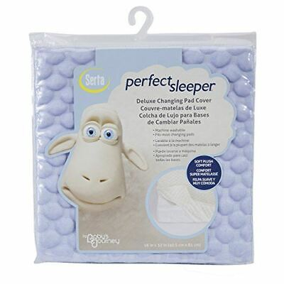 Serta Perfect Sleeper Deluxe Changing Pad Cover Soft Plush Comfort 16In X 32In