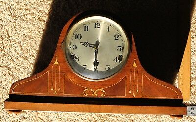 Old Key Wind Clock For Repair Or Parts In Very Nice Condition