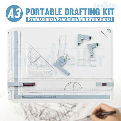 A3 Drawing Board Table +Parallel Motion and+Adjustable Angle Drafting Tool