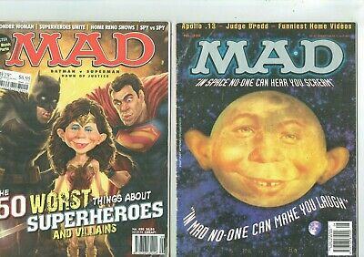 MAD MAGAZINE #338 + #496 Wonder-Woman Batman Superman Spider-Man etc etc  G7