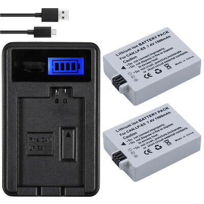 Finest Camera Battery Charger for Canon LP-E5 EOS450D 500D 1000D KISS F X2 W4E5C