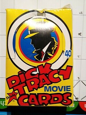 Dick Tracy unopened sealed box Bubble Gum cards 60 packets of cards