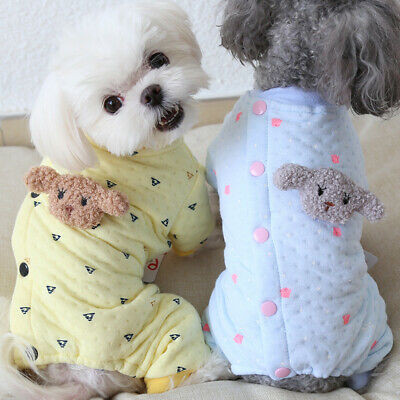 Cute Dog Jumpsuits Rompers Warm Pet Dog Clothes Jackets Coat Cats Clothing Teddy