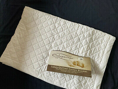 Onkaparinga Luxury Quilted Cotton Blanket Cot Size 110 X 150Cm