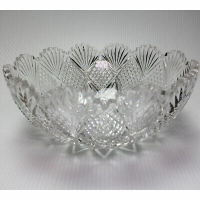 ABP American Brilliant Period Cut Glass Fruit Bowl