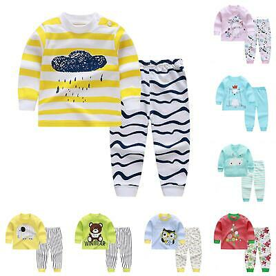 Kids Baby Boys Girls Clothes Top + Pants Cotton Pajamas Sleepwear Outfit Deluxe