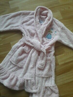 F&F girls princess dressing gown and all in one sleepsuit fleece age 2-3 warm