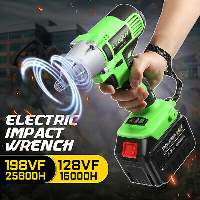 198VF / 128VF Cordless Impact Wrench Drill Driver Li-Ion Battery Electric Tool