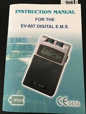 Med-Fit Digital Muscle Stimulator, Tens Machine With Full Instructions