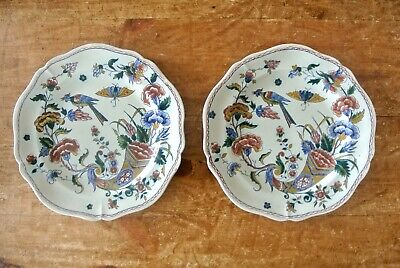 19th Century French Antique Faience Cornucopia Chargers Plates
