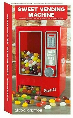 Global Gizmos Red Retro Style Jelly Sweet Candy Vending Machine - Christmas Gift
