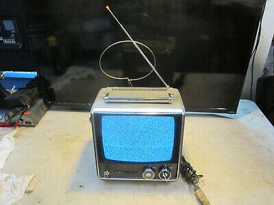 """SONY 10.5"""" Vintage RETRO Portable Black and White Television,WORKING"""
