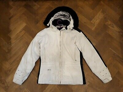 Spyder Girls White and Black Ski Snow Jacket Coat 16 Years