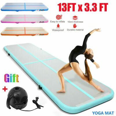 13FT Airtrack Inflatable Air Track Floor Home Gymnastics Tumbling Mat GYM  CF