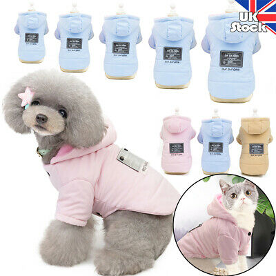 Winter Pets Coat Cats Puppy Clothes Fleece Jackets Hoodie Warm for Small Dogs UK