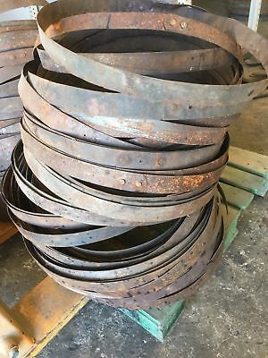 12 Pack of 100% Authentic Bourbon Whiskey Barrel Hoop / Ring - FREE SHIPPING
