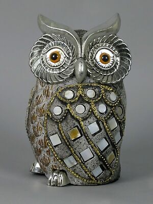Country Living Hand Painted Metal Owl Branch