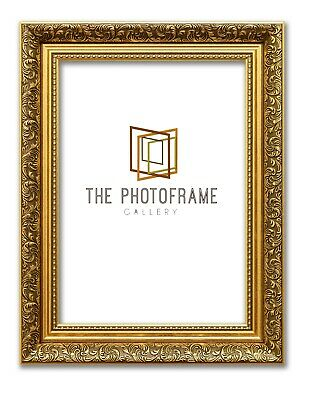 New Gold Picture Photo Frame Ornate Finish Art Poster Frame Spoon Profile Frames