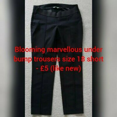 Blooming Marvellous maternity under Bump Trousers Size 18 (short)