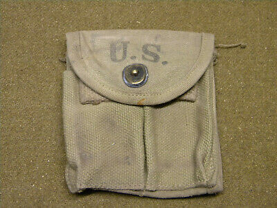 Porte chargeur Cal/30 carabine US/M1 WWII WW2 airborne pouch airborne para