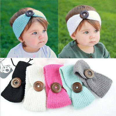 Baby Knit Bow Headband Hair Bands Winter Warm Kid Infant Girl Hair Accessories