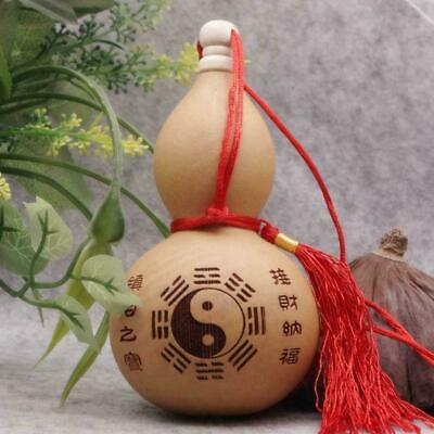 """Home craft (4""""tall) Potable Natural Real Dried Bottle ornaments Gourd decor D9C2"""