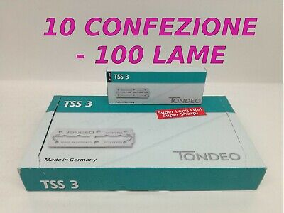 Tondeo Tss 3 Lama Lunghe - Made In Germany - 10 X 100 Lame