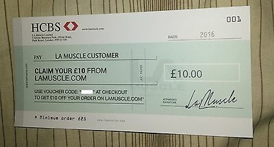 LA Muscle £10 Voucher Coupon Code Discount Gym Weight Training Whey Protein