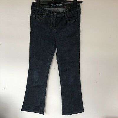 Next Dark Blue Jeans Size 12 Long Bootleg In Lovely Condition