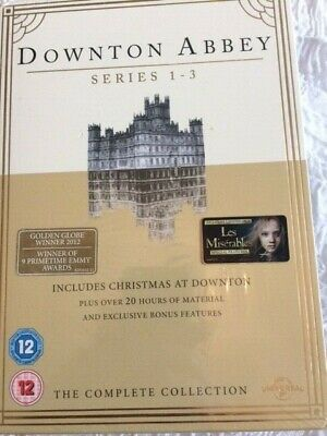 Downton Abbey Series 1 - 3 + Christmas Special DVDs Brand New and Sealed