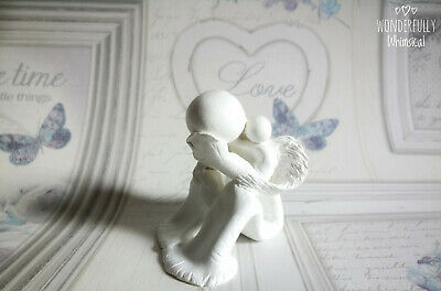 Angel Baby Memorial Daddy Remembrance Child Loss Grief Ornament Miscarriage Clay