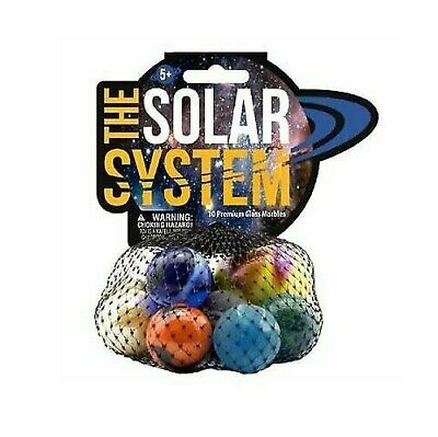 Solar System Glass Marbles Game Outer Space Planets