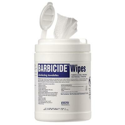 "Barbicide Disinfectant Towelettes Wipes 160ct (6""x6.75"")"