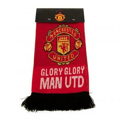 Manchester United F.C. Jacquard Knit Scarf  - Official MUFC Merchandise