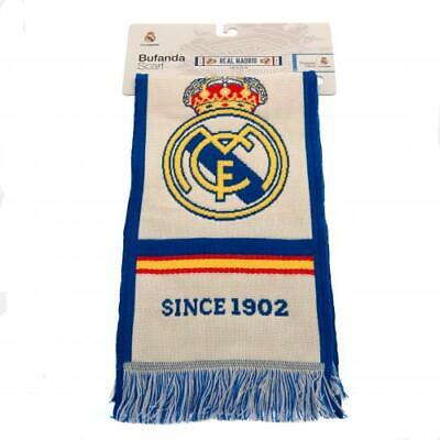 Real Madrid F.C. Jacquard Knit Scarf- Official Club Merchandise