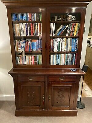 Excellent Quality Antique Mahogany Edwardian Bookcase with  Drawers And Storage