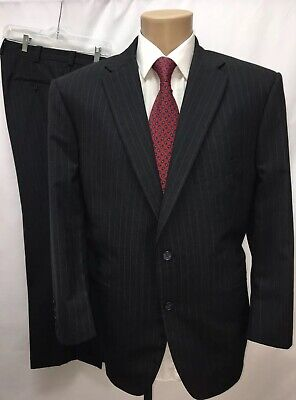 Tom James Hand Tailored Royal Classic 2Pc Suit Holland & Sherry Sz 44R W39 L29.5