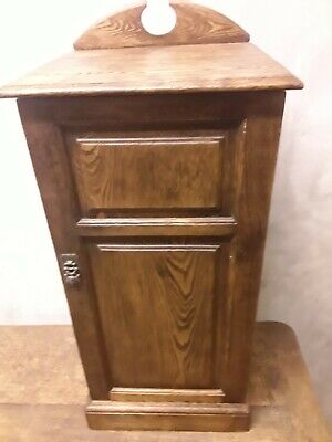 Antique Ash Bedside Cupboard/Cabinet Lamp Stand