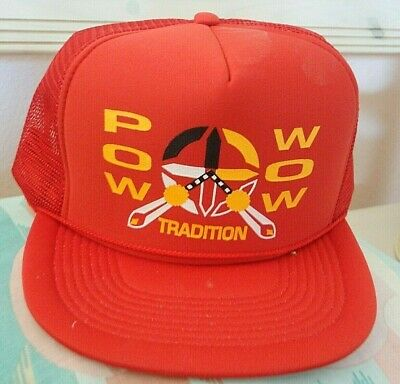 NEW! Pow Wow Cap - Red - Indian Pow Wows