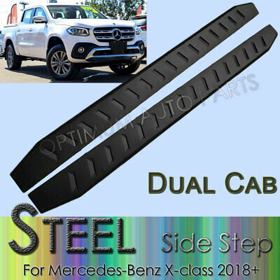Black Steel Side Steps Running Board to suit Mercedes Benz X Class 2018 2019